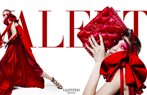 Valentino'nun Ilkbahar-yaz 2018 kampanyasında Gigi Hadid rüzgarı!
